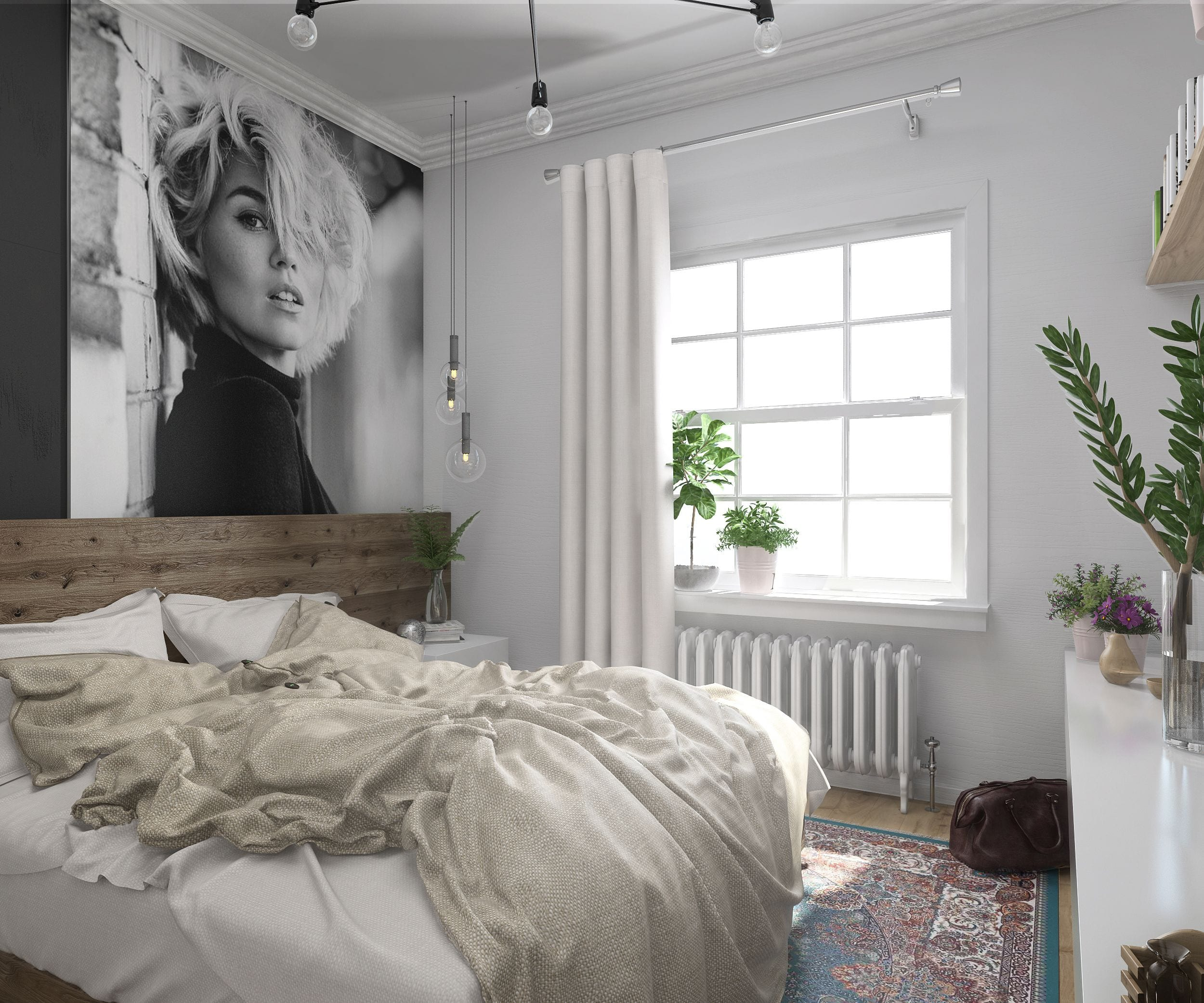 Нежный дизайн спальни в светлых тонах: фото и 3 правила оформления | 2083x2500