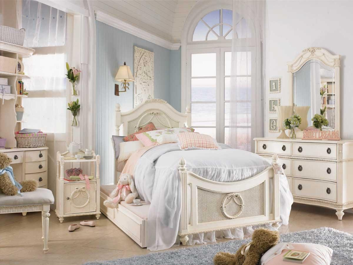 Шикарная спальня в стили шебби шик
