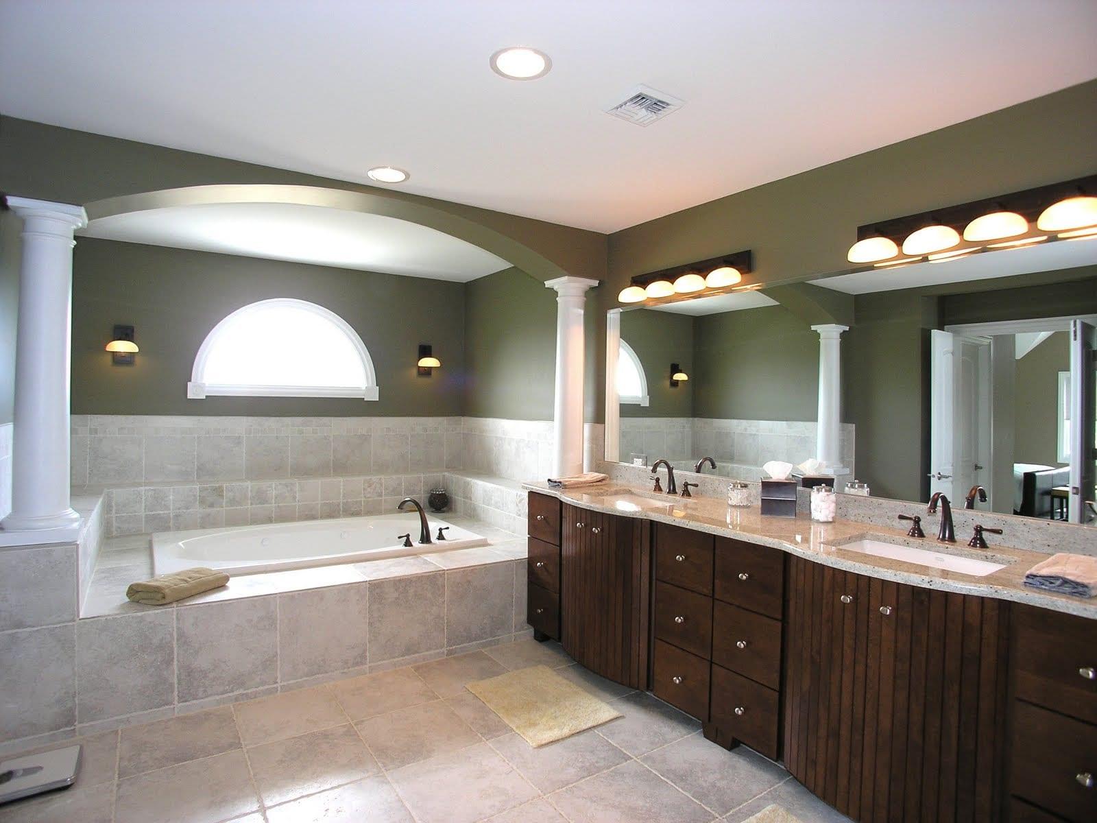 Все про освещение в ванной комнаты