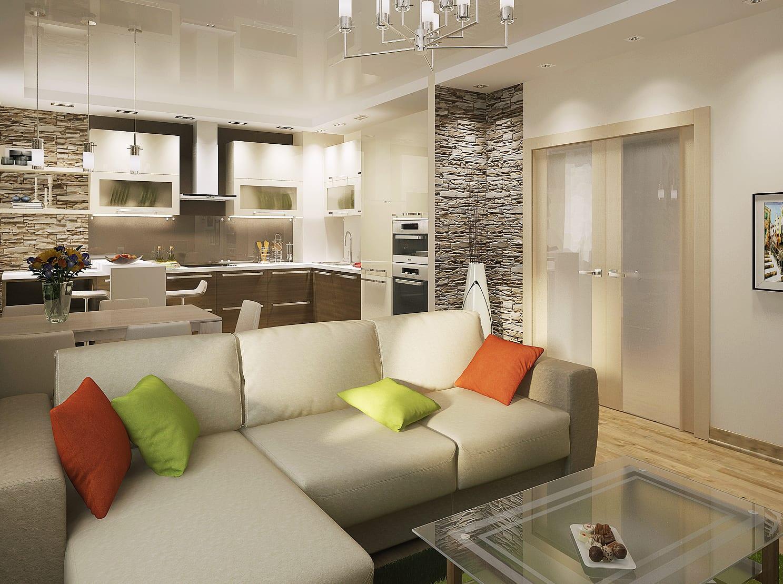 интерьер квартиры трехкомнатной фото