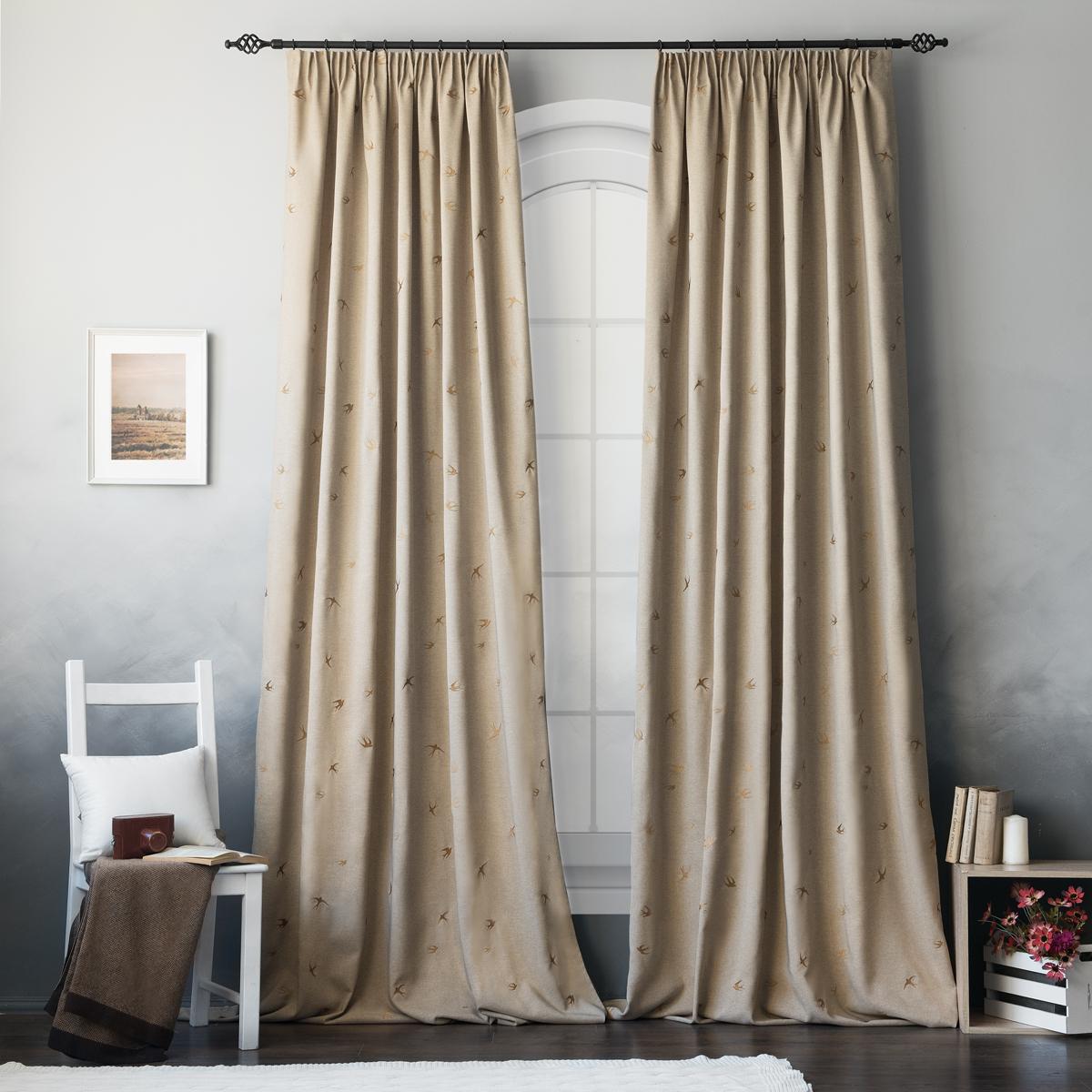 Как правильно укоротить шторы своими руками