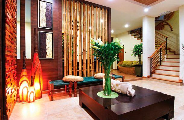 Способы украшения интерьера бамбуком_1