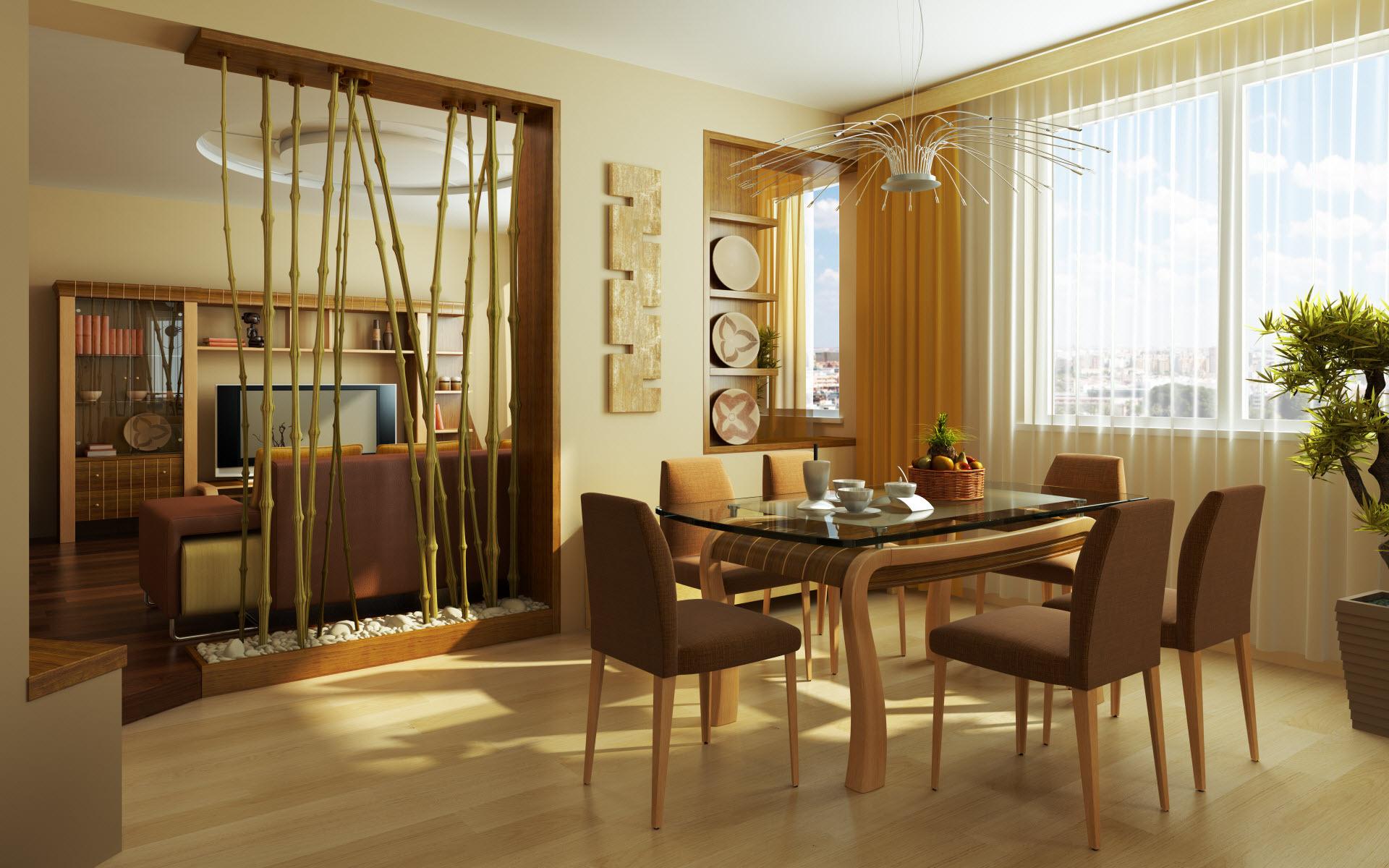Способы украшения интерьера бамбуком_2