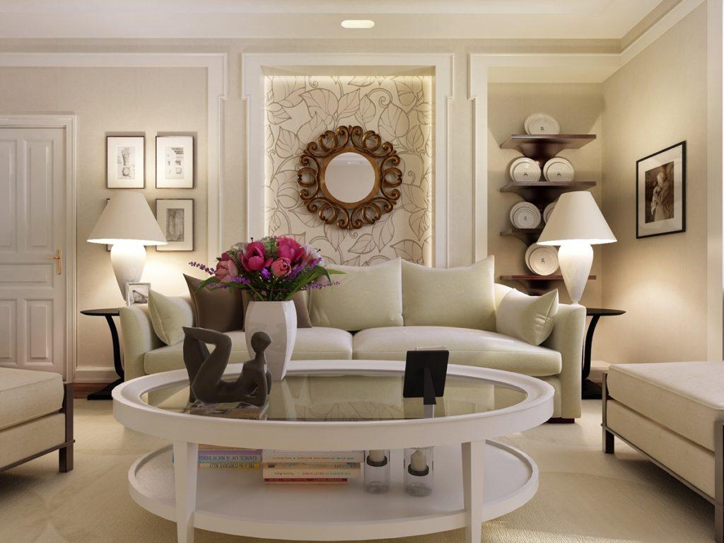 Идеи дизайна стен для небольшой гостиной_3