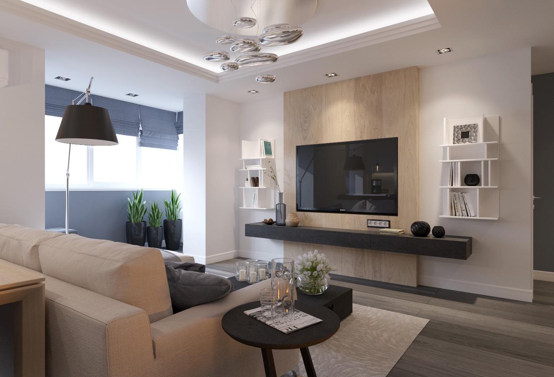 Идеи дизайна стен для небольшой гостиной_4