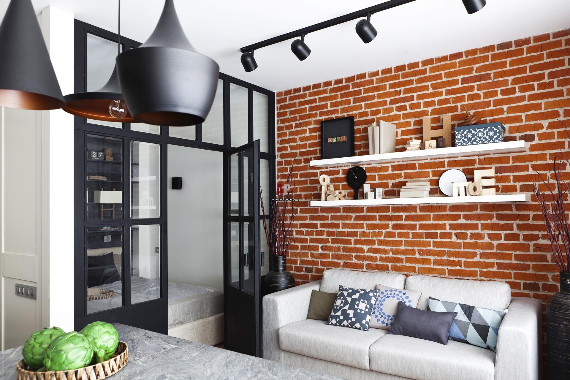 Идеи дизайна стен для небольшой гостиной_6