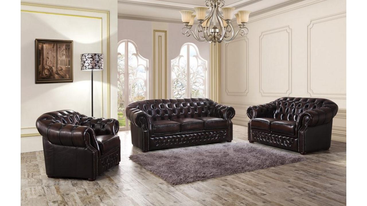 Когда уместна мебель с кожаной обивкой_1