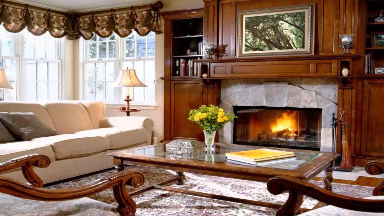 Как оформить гостиную в английском стиле_5