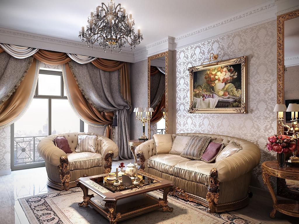 Мебель для интерьера в классическом стиле_5
