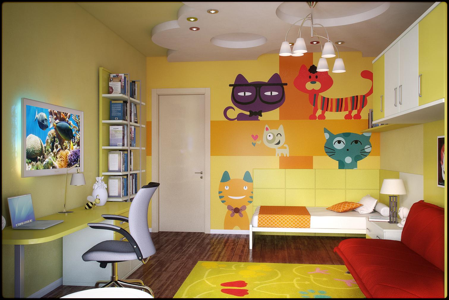 Интересные способы отделки детской комнаты_1