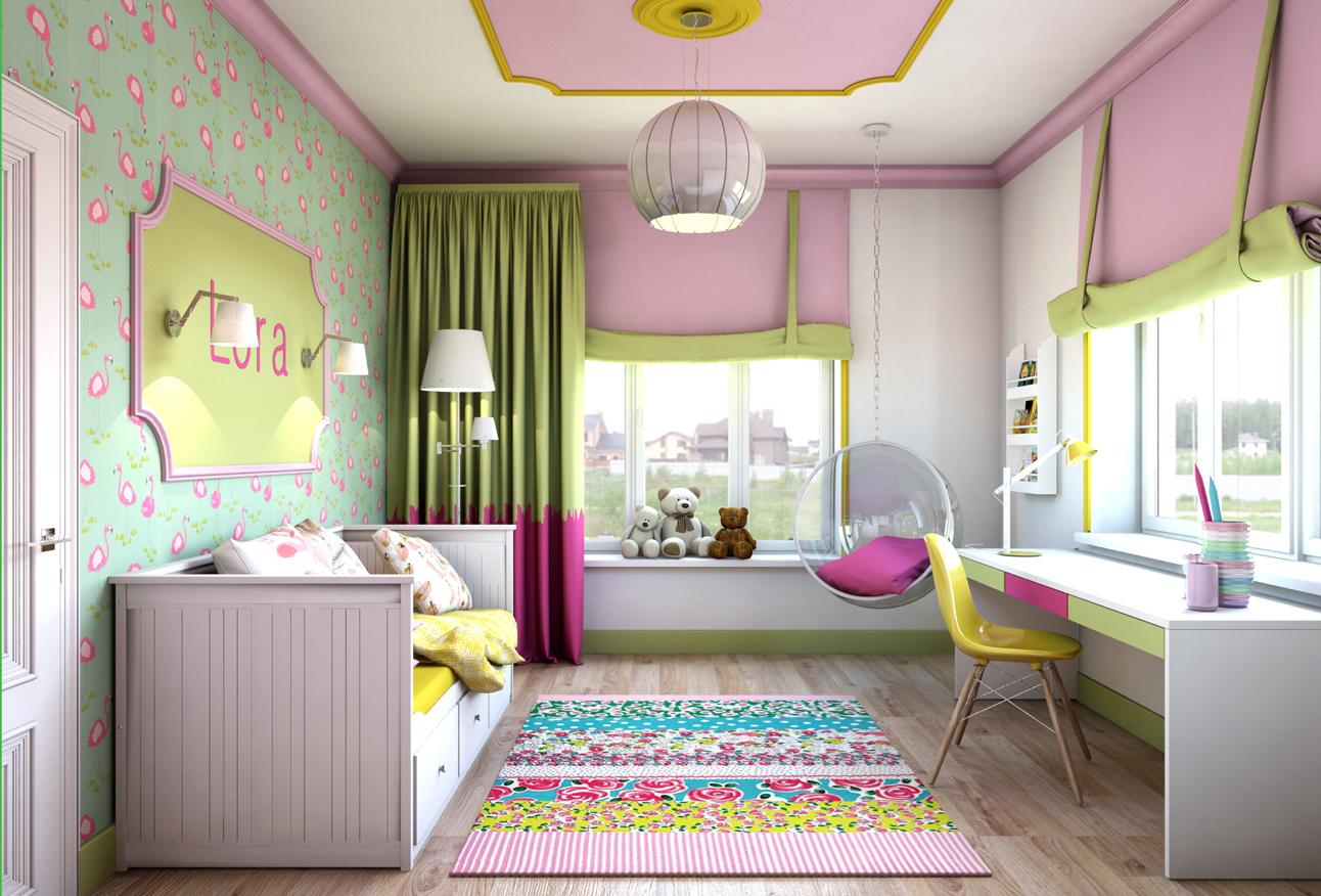 Интерьер комнаты для девочки_4