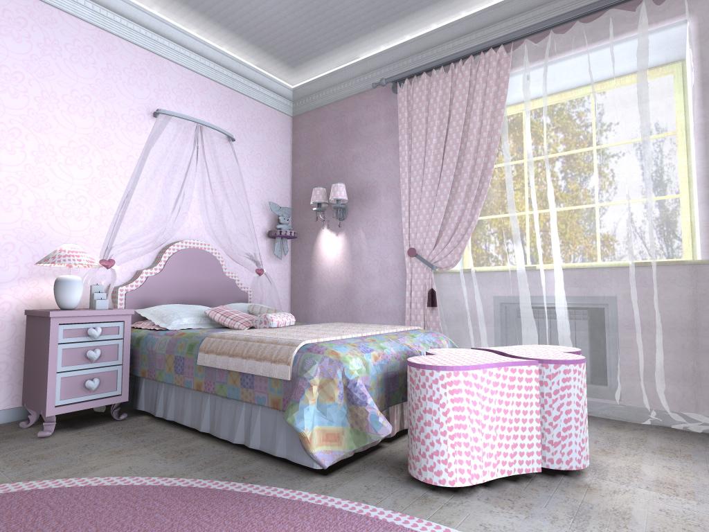 Интерьер комнаты для девочки_5