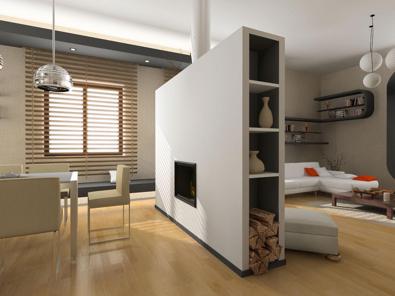 Перегородки в квартире как способ зонирования_1