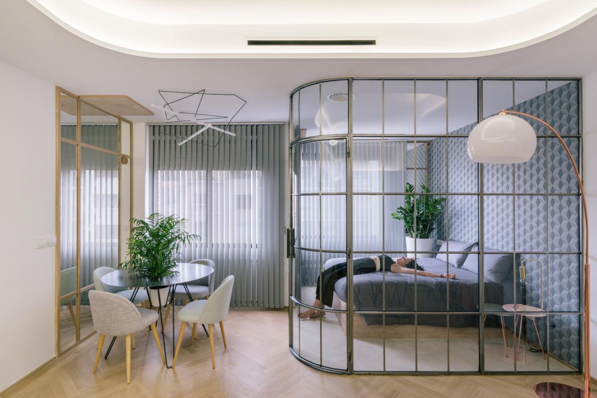 Перегородки в квартире как способ зонирования_3