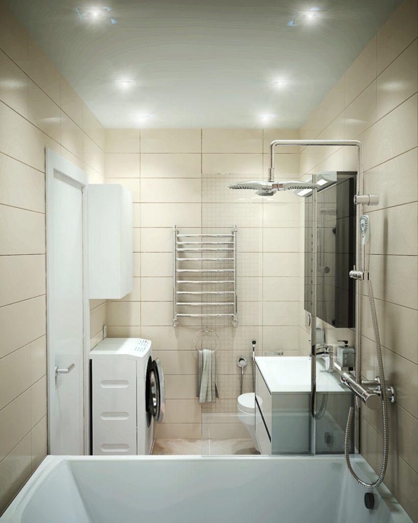 Особенности планировки небольшой ванной комнаты_2