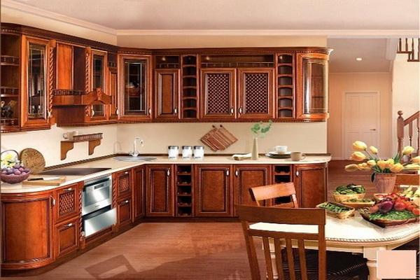 Кухонный гарнитур из натурального дерева_1