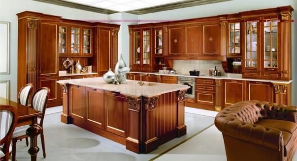 Кухонный гарнитур из натурального дерева_2