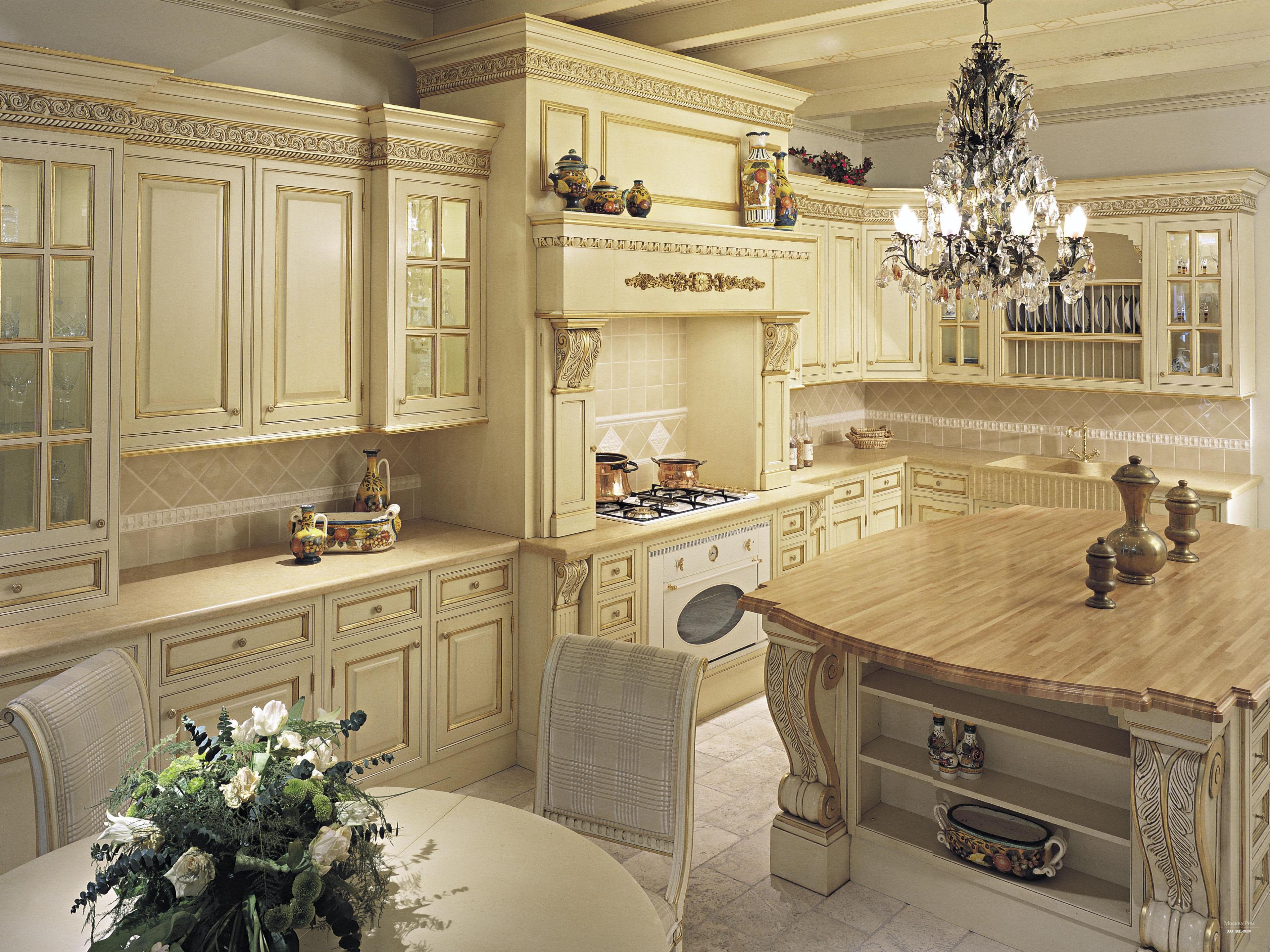 Кухонный гарнитур из натурального дерева_3