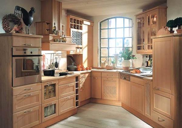 Кухонный гарнитур из натурального дерева_4