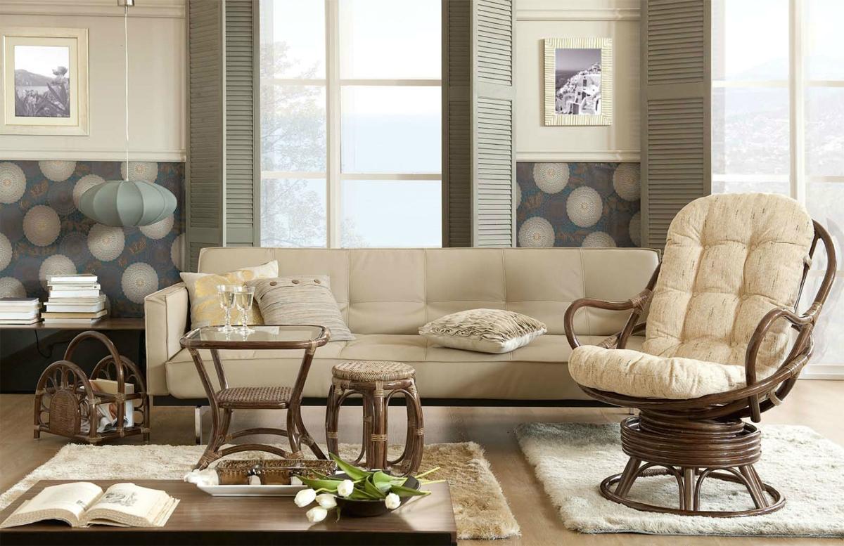 Как использовать в интерьере мебель из ротанга_1