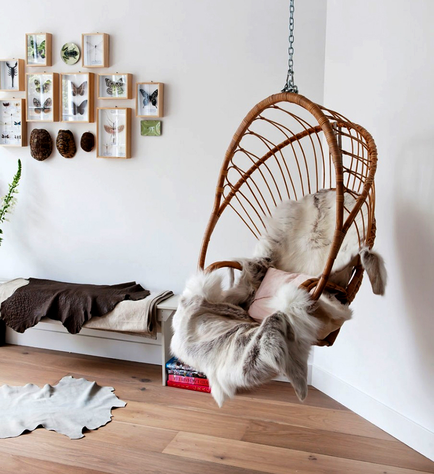 Как использовать в интерьере мебель из ротанга_5