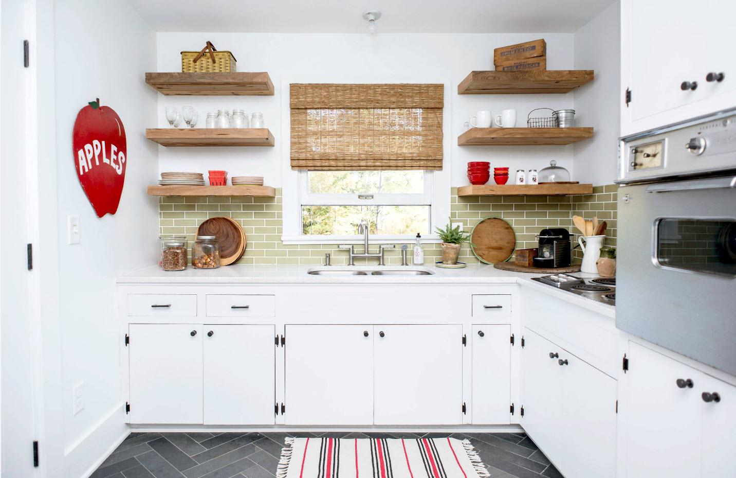 Открытые полки: создаем гармоничный дизайн кухни_2