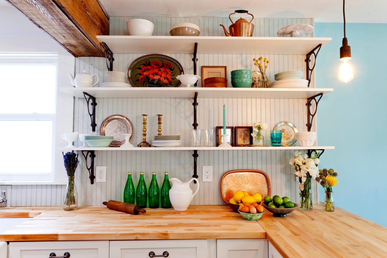 Открытые полки: создаем гармоничный дизайн кухни_5