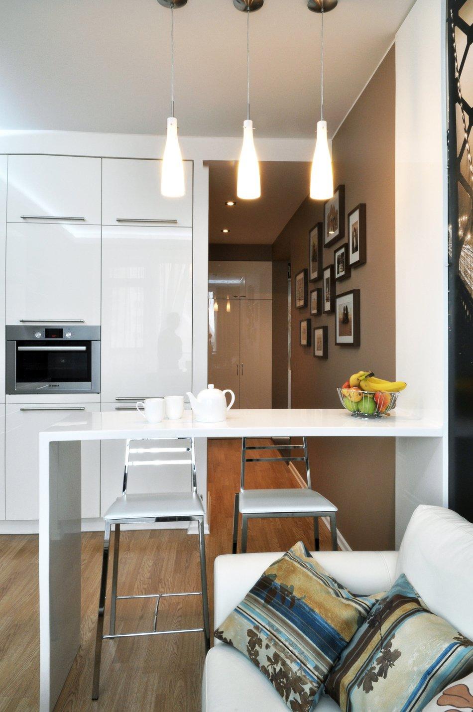 Дизайн кухни-гостиной в однокомнатной квартире_1