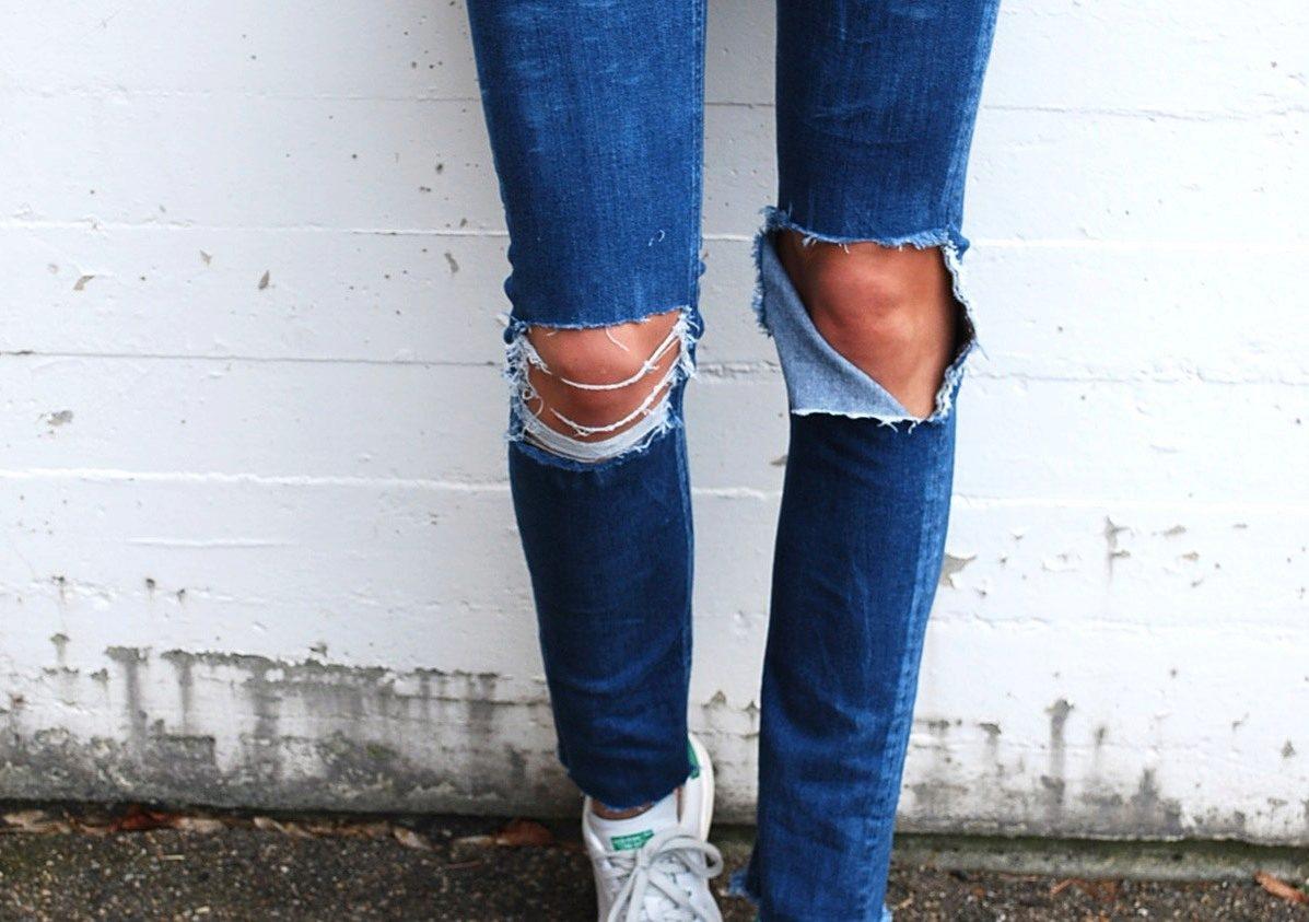 Как своими руками порезать джинсыКак своими руками порезать джинсы