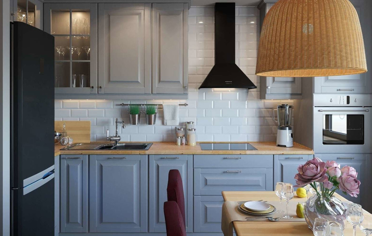 Как расположить мебель на кухне_3