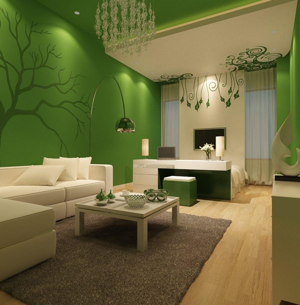 Как оформить интерьер в зеленых тонах_3