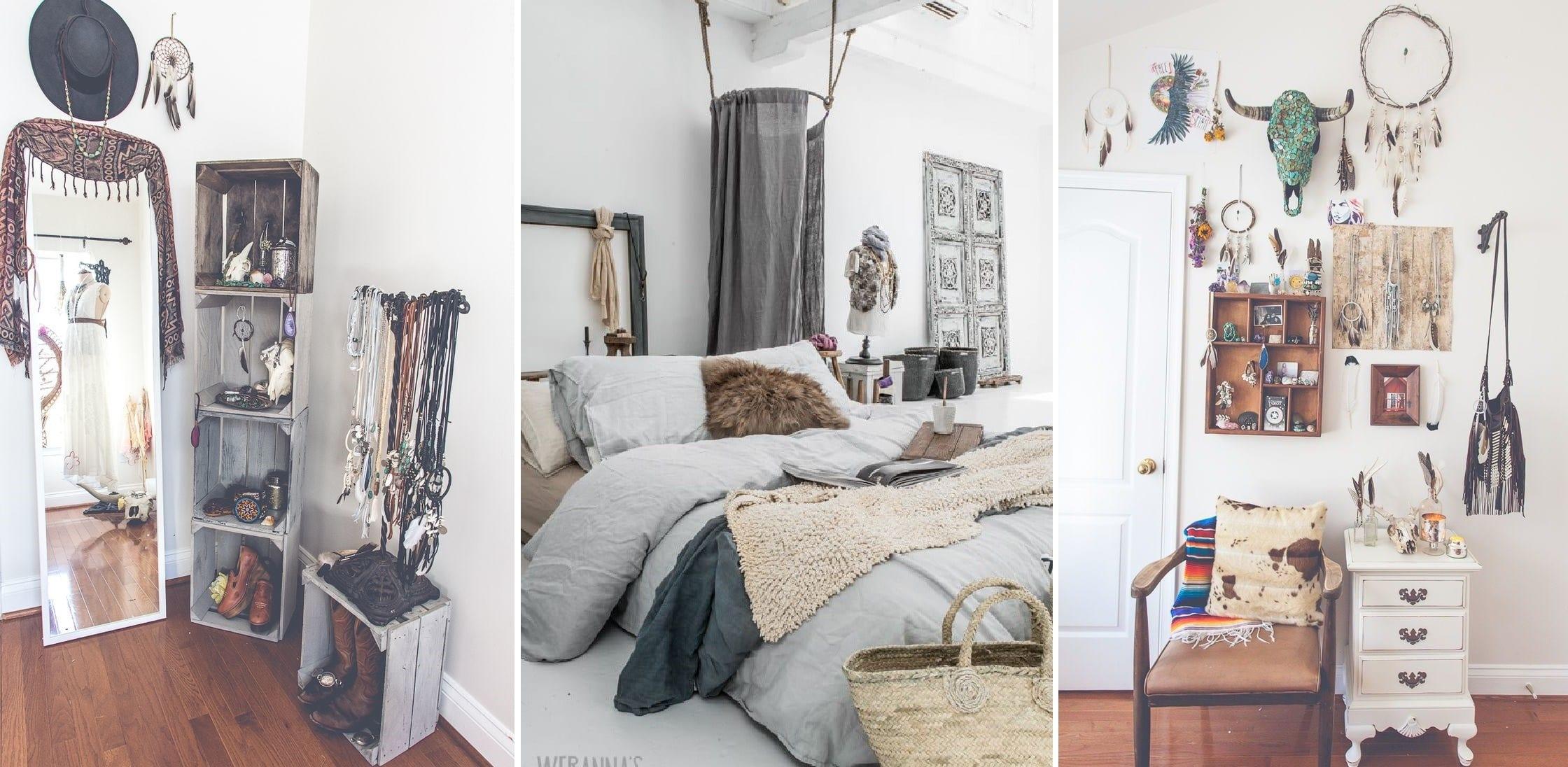 Спальня в стиле богемный шик