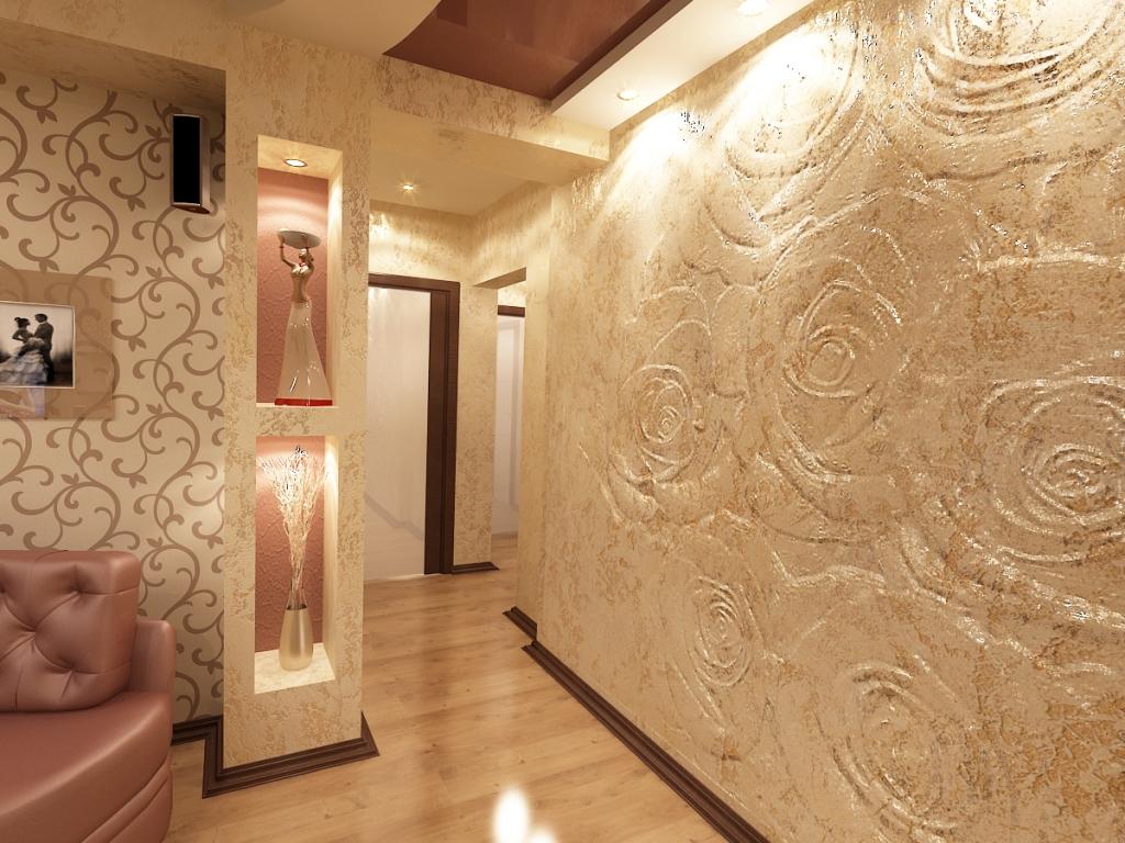 как украсить оштукатуренную стену в коридоре фото это ошибка, чём