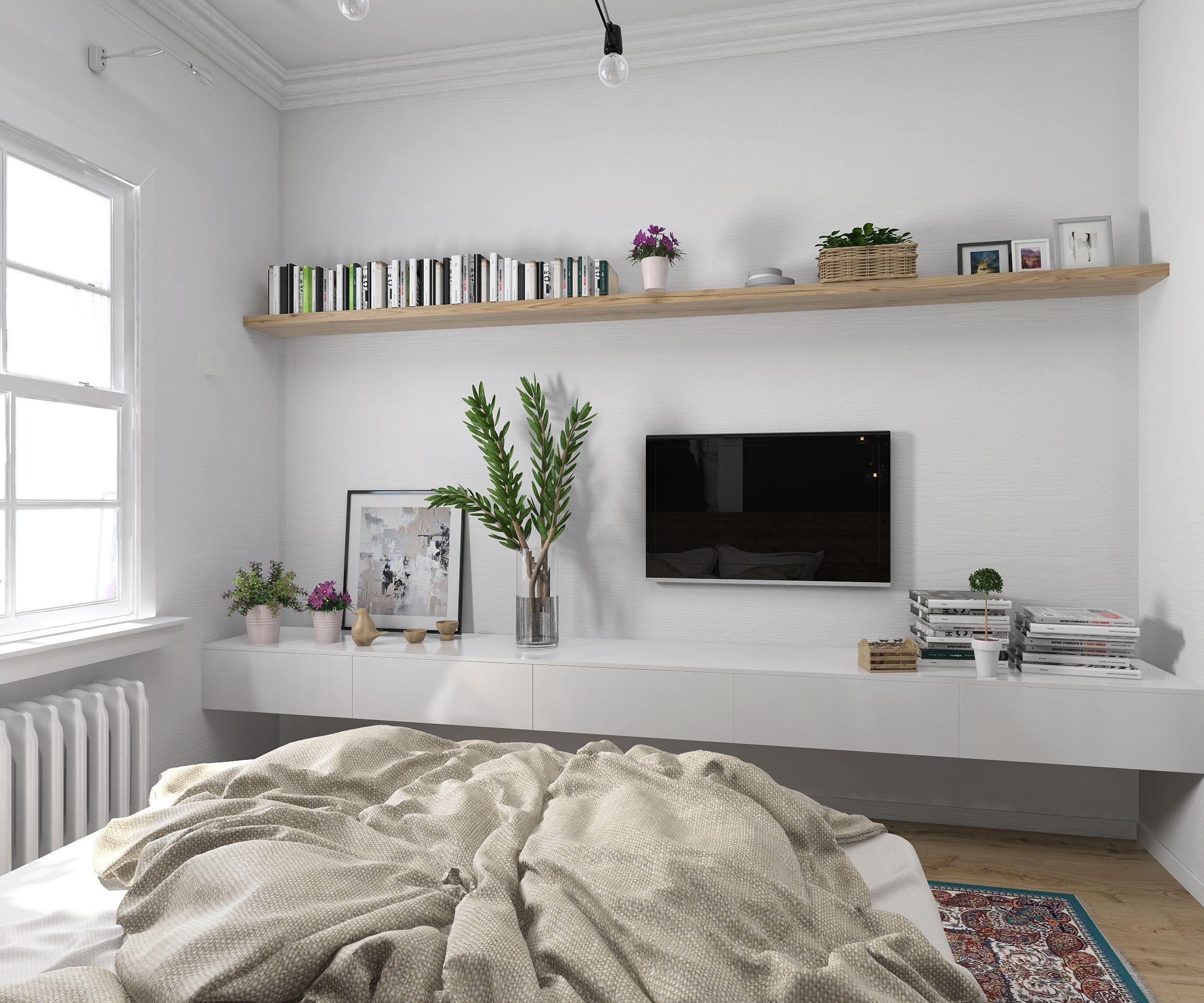 Дизайн интерьера спальни - Интерьер нежной спальни | 2083x2500