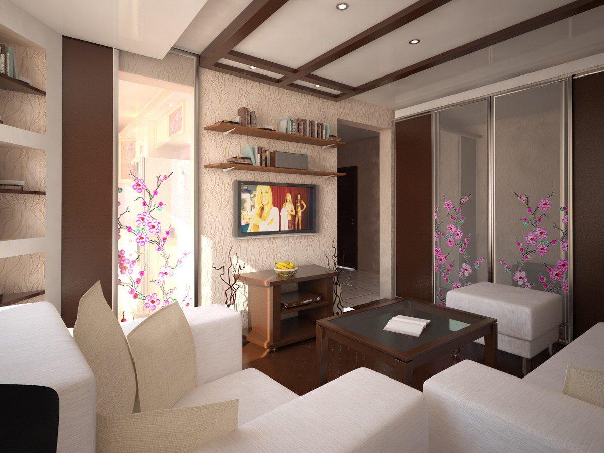 Дизайн маленькой гостиной_5