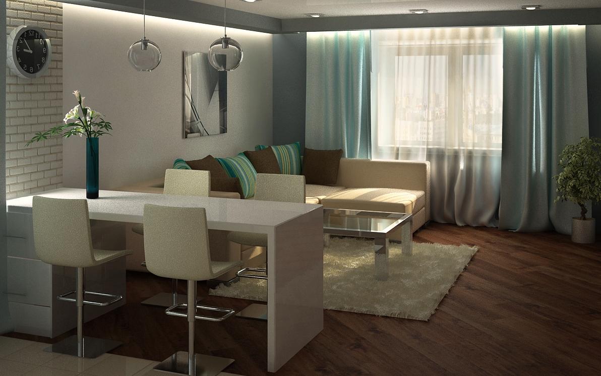красивый интерьер маленькой квартиры_2