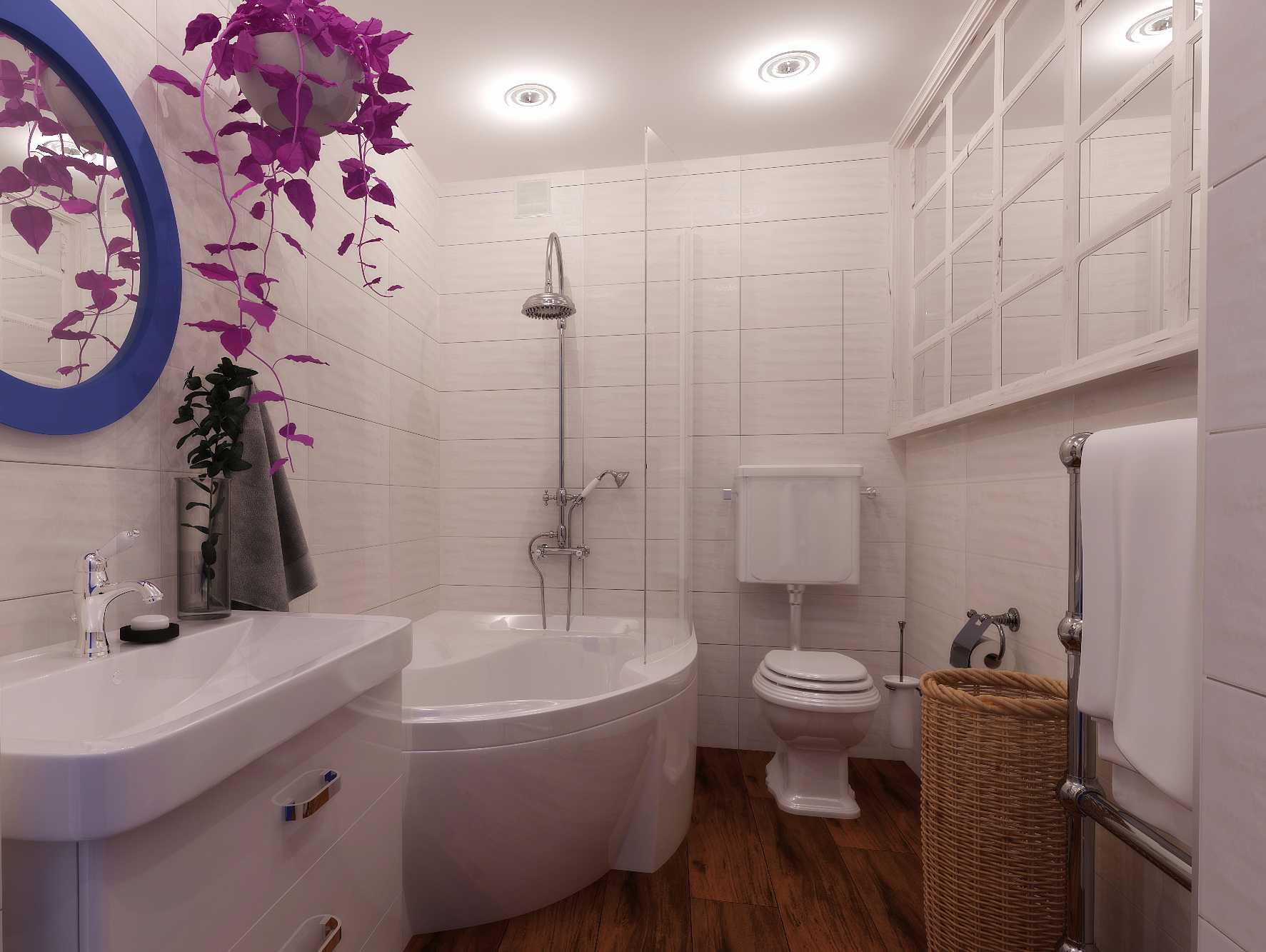 Как сделать санузел с сидячей ванной удобным и красивым