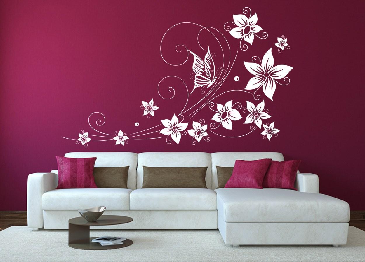 рисунок на стене в гостиной своими руками