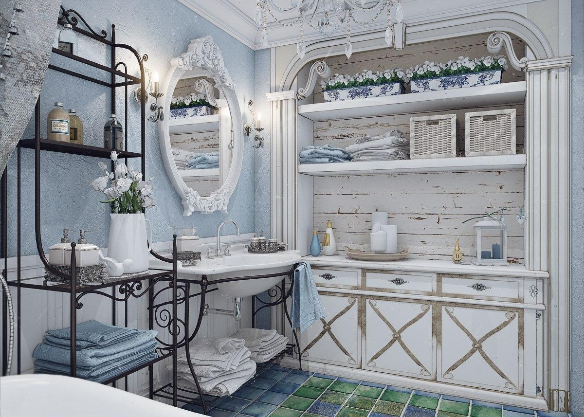 Как создать ванную комнату в стиле прованс
