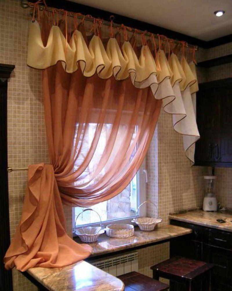 Виды занавесок на кухню_3