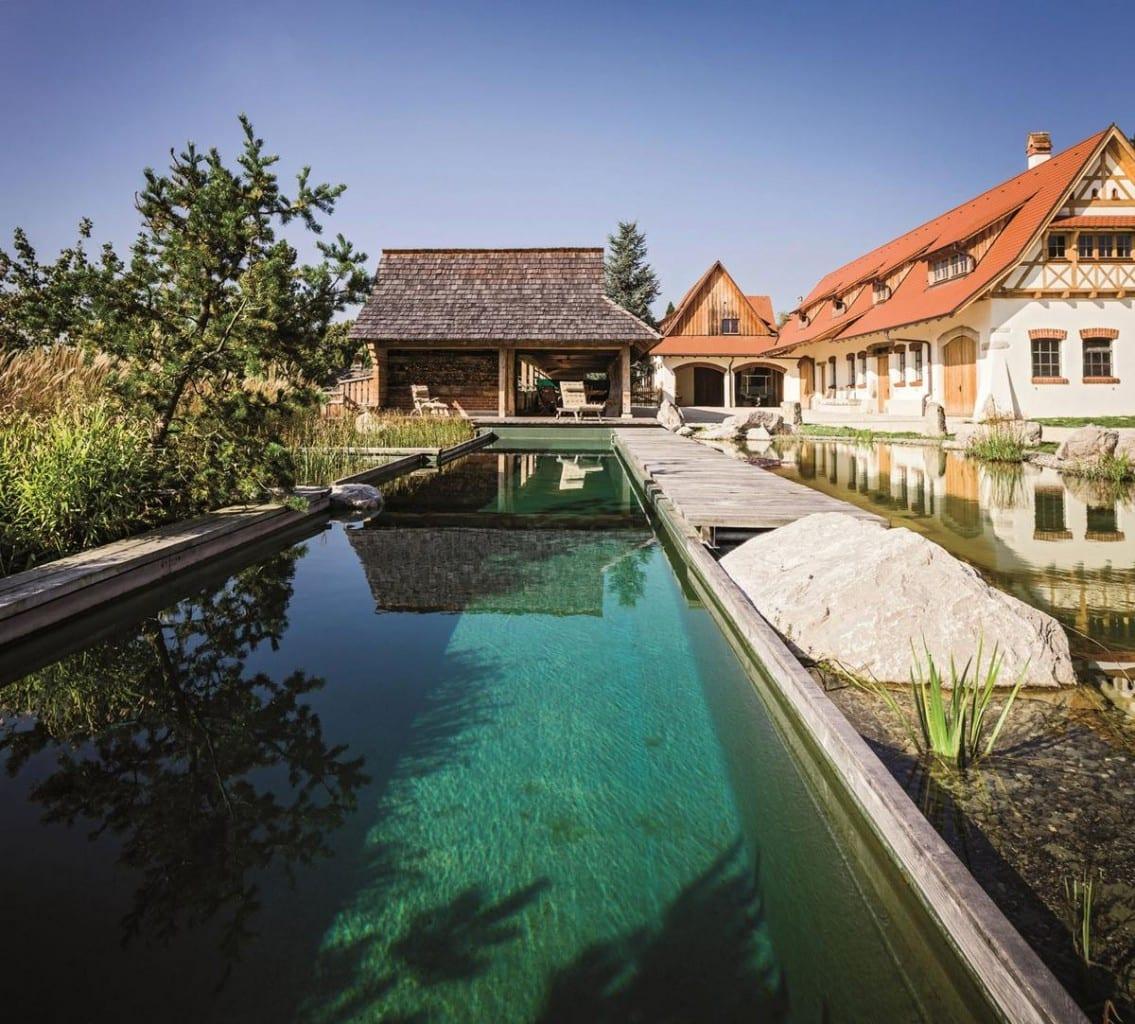 Balena GmbH, TeichMeister Filter-System, бассейн с натуральной водой, циркуляция воды в бассейне, бассейн с естественным притоком воды, проект бассейна