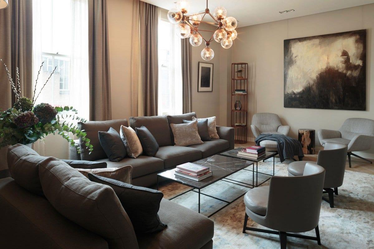 Maida Vale Residence, Staffan Tollgard Design Group, комфортный интерьер фото, фотографии уютный интерьер, освещение интерьера фото, дом в Лондоне