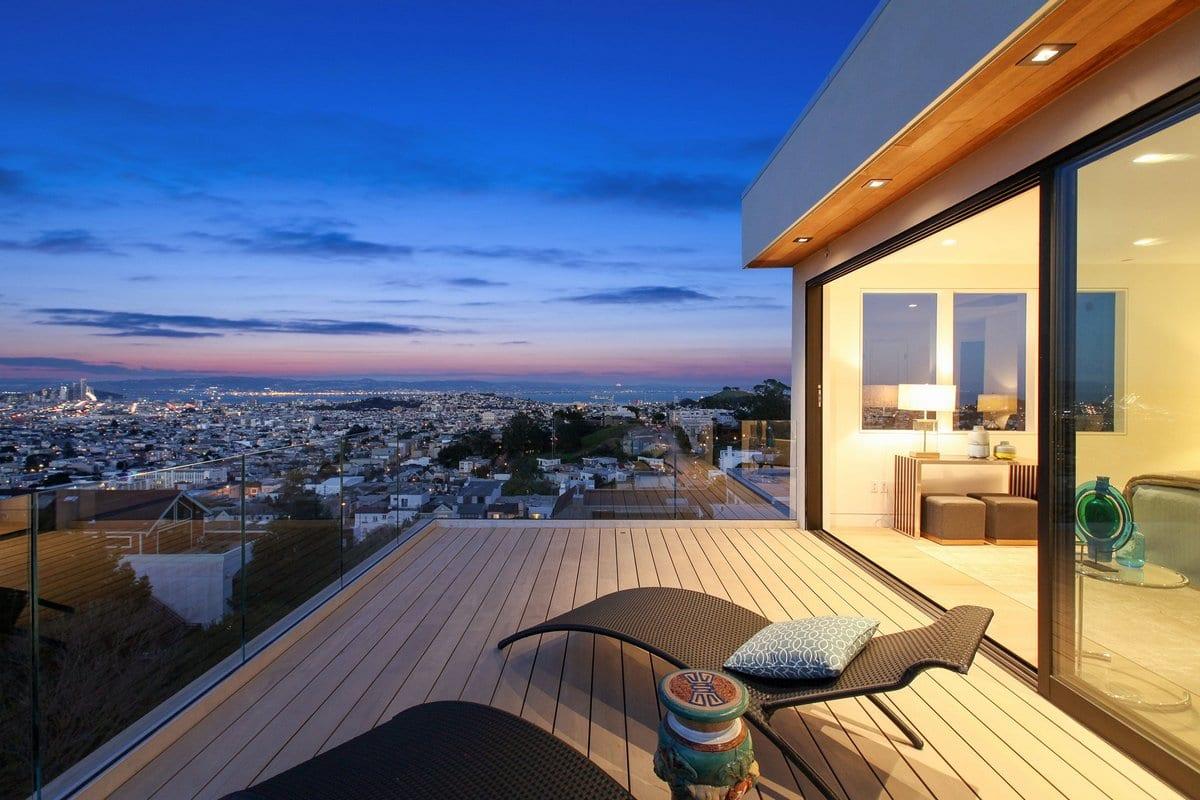 Частный дом с панорамой на Сан-Франциско