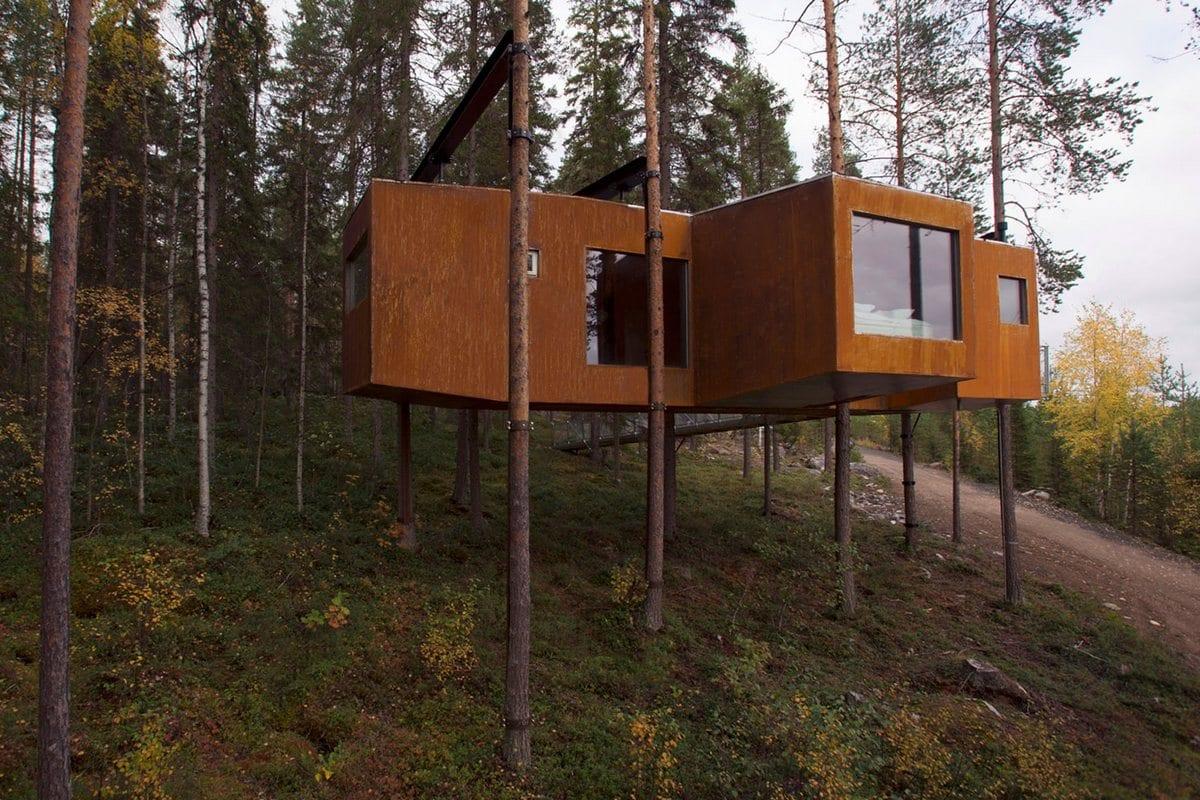Dragonfly, Rintala Eggertsson Architects, дом на дереве, домик на дереве, дом в лесу, лучшие дома на дереве, обзор дома на дереве, дома в Швеции