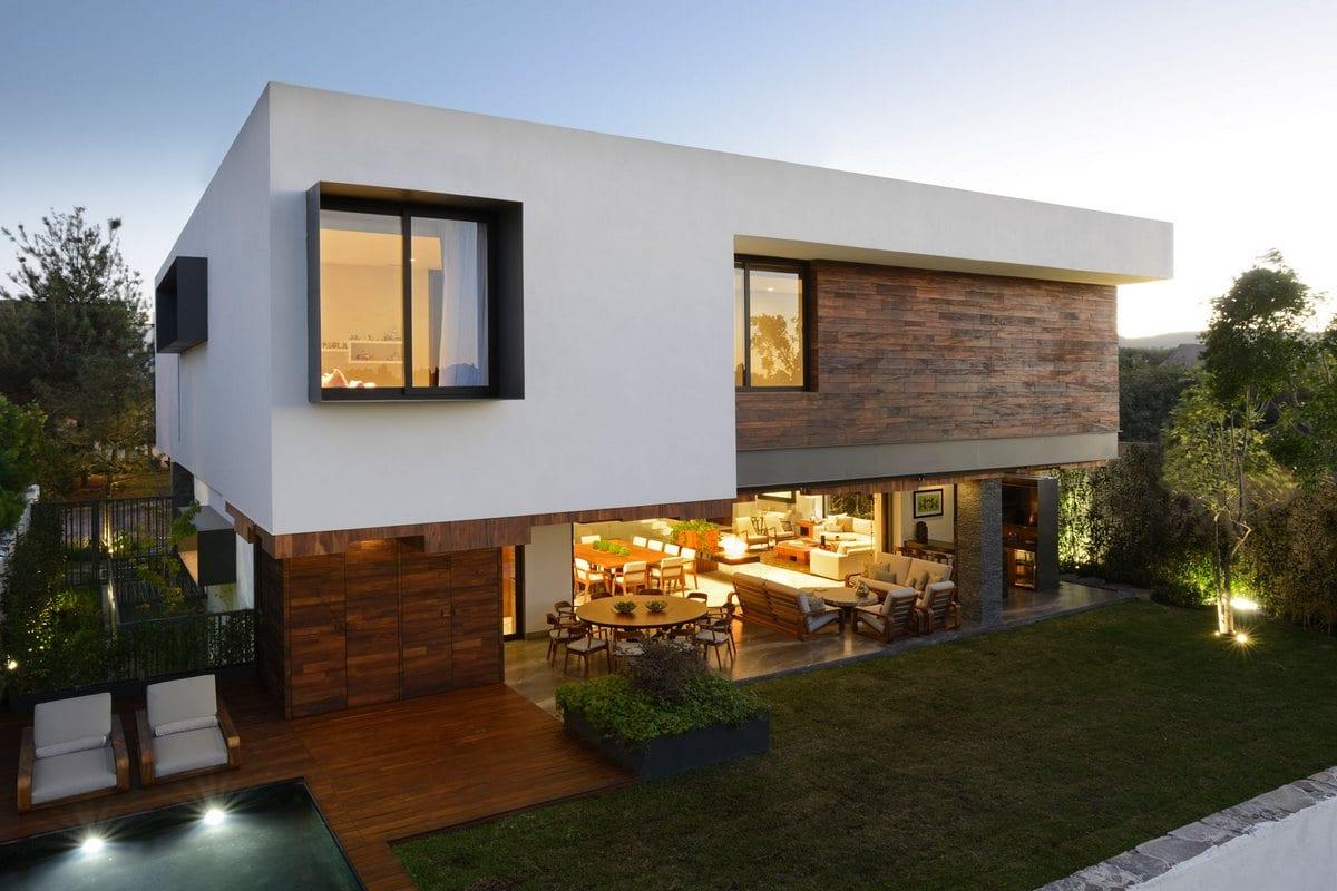 Дом с атриумом в Мексике