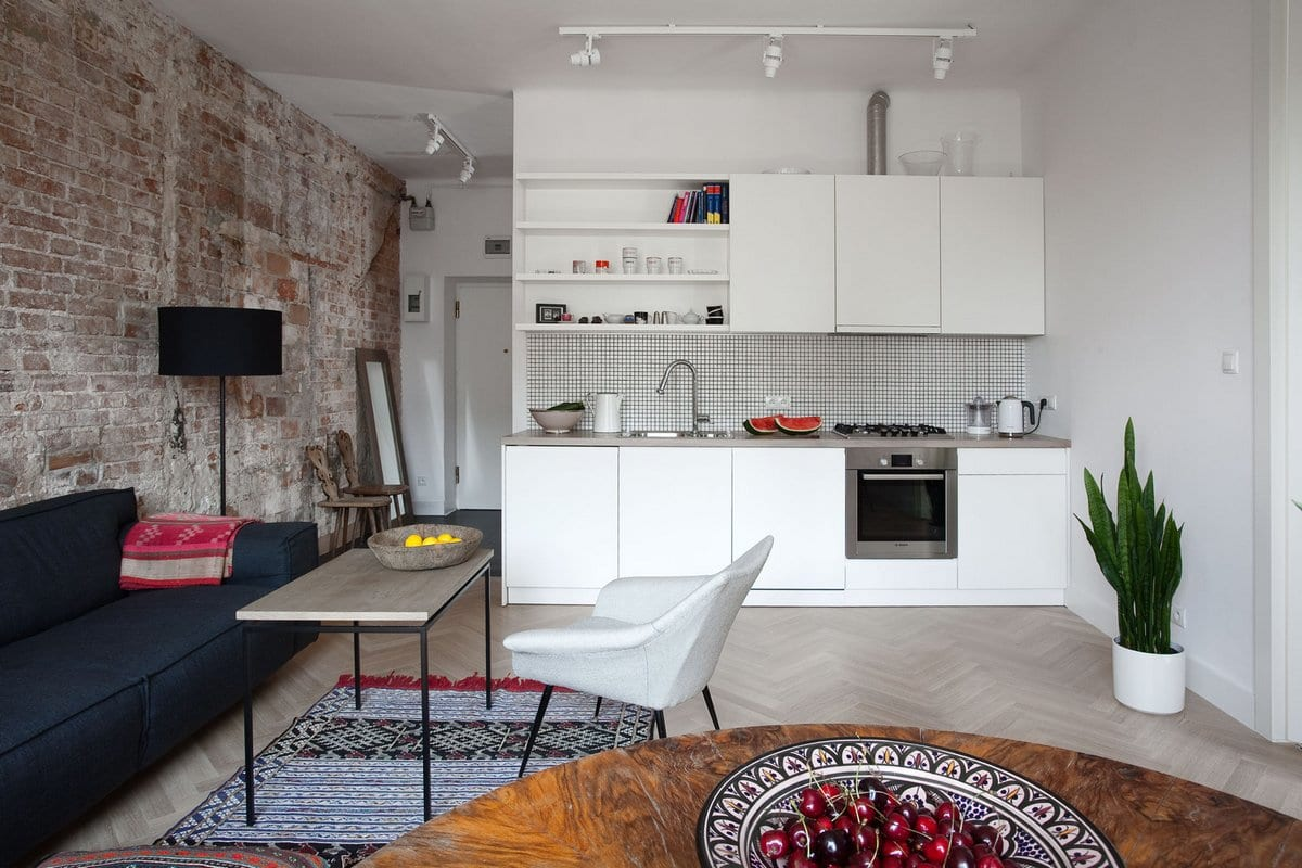 KW Studio, Ethnical Minimalism, этнический минимализм, квартира в Варшаве, квартира в старом здании фото, дизайн интерьера квартиры в Польше