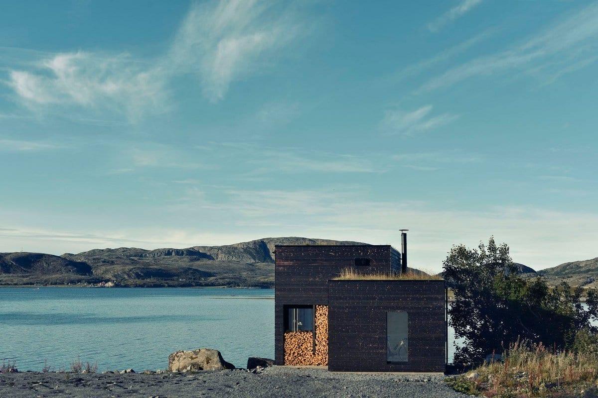 Эко-дом на острове у побережья Новрегии