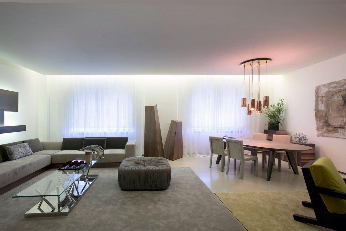 Bartoli Design, Lounge Living Project, Laurameroni, черные стены квартиры фото, квартиры в Милане фото, интерьер квартиры 100 квадратных метров фото
