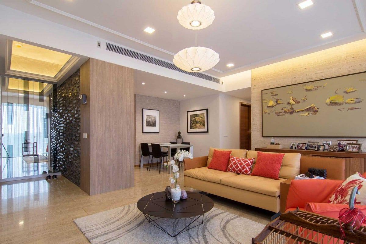Функциональный интерьер квартиры в Сингапуре