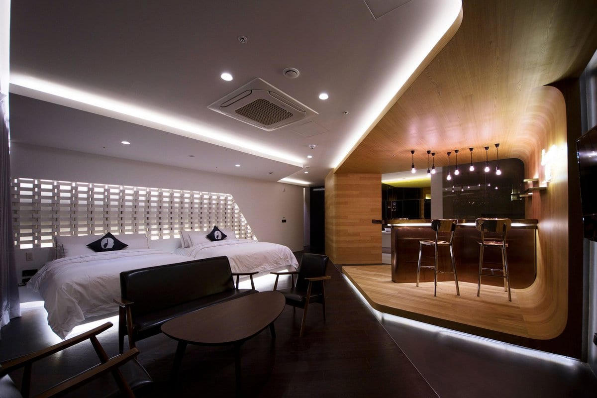 Футуристический номер в отеле Hotel the Designers Incheon